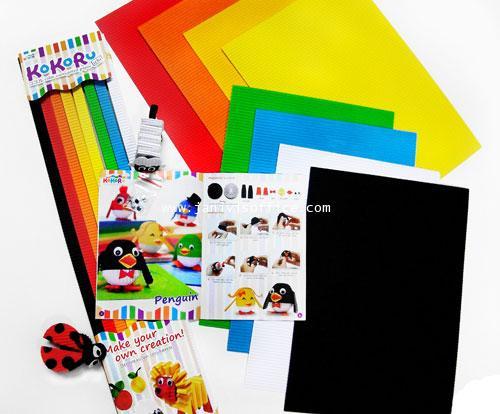 Kokoru Color Corrugated Paper (แผ่นใหญ่) แพ็คละ25แผ่น1สี