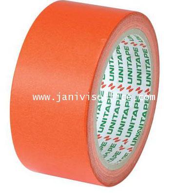 กระดาษกาวสี ยูนิเทป ขนาด1.5นิ้วx20y. แกน3นิ้ว สีแดง