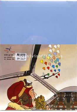 กระดาษสีFlying Colours 160 แกรม ขนาดA4 50 แผ่น/ห่อ no.19ฟ้าเทา