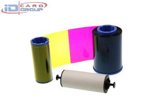 ริบบอน YCMKOสำหรับเครื่องพิมพ์ บัตรพลาสติก Zebra Card Printer P330i