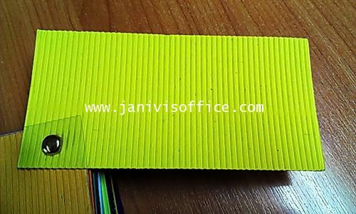 กระดาษลูกฟูกสีลอนE หน้าเดียว สีเหลือง 20x30นิ้ว (20แผ่น/แพ็ด)