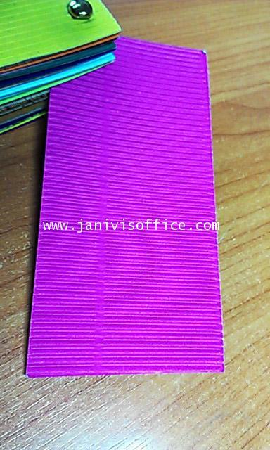 กระดาษลูกฟูกสีลอนE หน้าเดียว สีชมพูเข้ม 20x30นิ้ว (20แผ่น/แพ็ด)