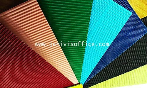กระดาษลูกฟูกสีลอนE หน้าเดียว สีฟ้า 20x30นิ้ว (20แผ่น/แพ็ด)