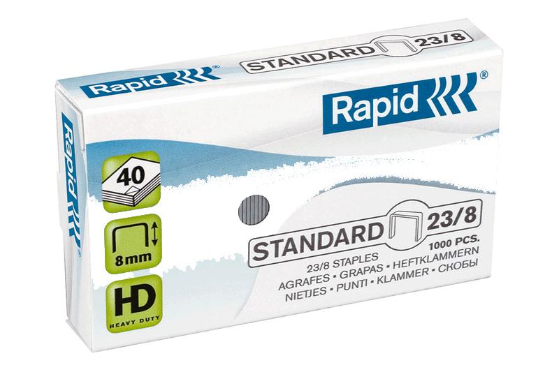 ลวดเย็บราปิด 23/8 ( RAPID23/8) 1000ตัว/กล่อง