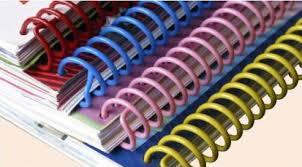 สันเกลียวพลาสติก PVC coilbinding ขนาด 6 มม.สีแดง(100อัน/กล่อง)