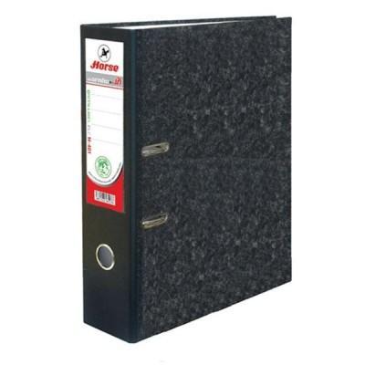 แฟ้มสันกว้าง ตราม้า H-405 A4 สัน3 นิ้วสีดำ แพ๊คละ12 เล่ม
