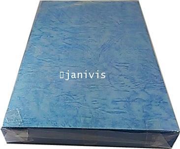 กระดาษหนังช้างนอก 185 แกรมA5 (100แผ่น/ห่อ)สีฟ้าคราม