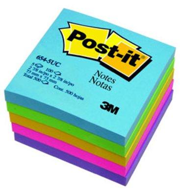 โพสต์-อิทโน้ต3Mอัลตร้าไบร์ท654-5UC 3x3นิ้วคละสี5เล่ม