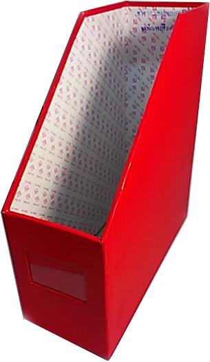 กล่องเอกสารแลคซีน  1 ช่อง แดง
