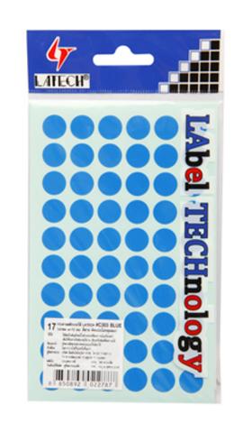 สติ๊กเกอร์กระดาษสีกลม12มม. LATECH C-303