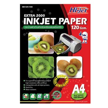 กระดาษอิงค์เจ็ท ไฮ-เจ็ท HE124-100 120g A4100ผ