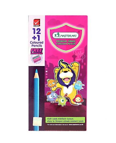 มาสเตอร์อาร์ต ดินสอสีแท่งยาว 12สี