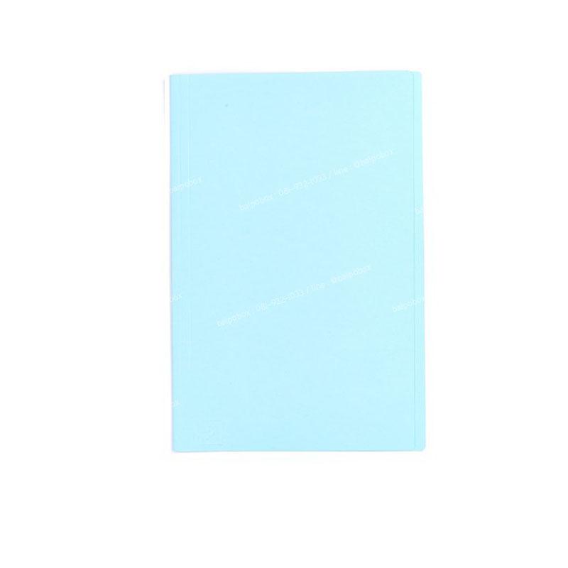 แฟ้มพับ ใบโพธิ์ F4 ฟ้า(1x50)