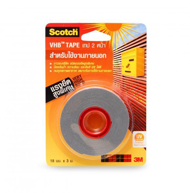 เทปโฟมอะคิลิก สก๊อตช์® 4941 เทปแรงยึดสูงสำหรับงานภายนอก ขนาด 18 มม. X 3 ม.