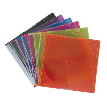 กล่องใส่แผ่น CD คละสี(1x10)