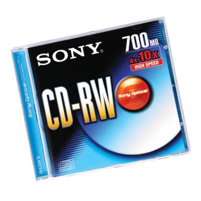 แผ่น CD-RW SONY 700MB 4X-10X (ยกเลิกการผลิต)