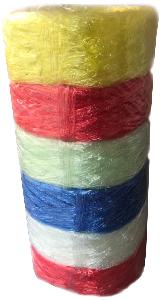 เชือกฟางม้วนใหญ่ คละสี 6 ม้วน