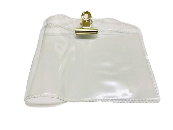 ป้ายชื่อพลาสติกอ่อนใสติดหน้าอก NO.8 (7x10ซม.)แพ็ค100