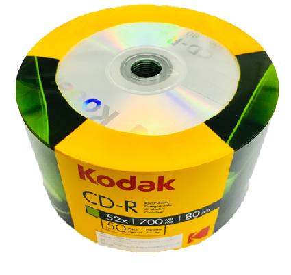 แผ่น CD-R KODAK 700MB 52X (แพ็ค 50 แผ่น)
