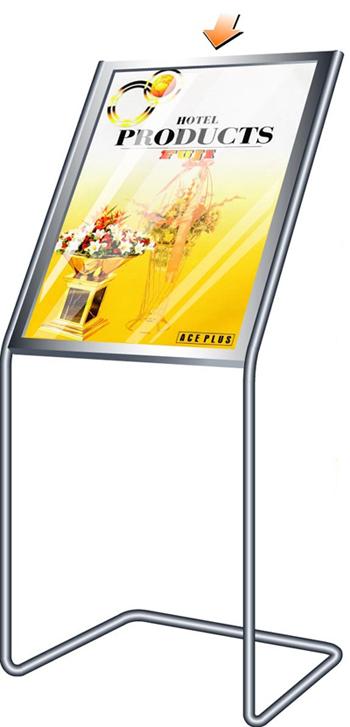 บอร์ดเสียบกระดาษโปสเตอร์หน้าเอียง ฟูจิ รุ่น B-2 ,Fuji Poster Board