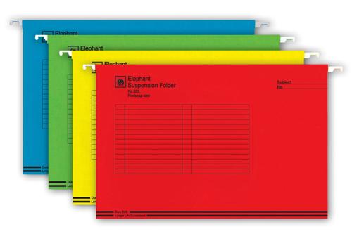 แฟ้มแขวนตราช้างรุ่น 925 F4 คละสี(10เล่ม/แพ๊ค)