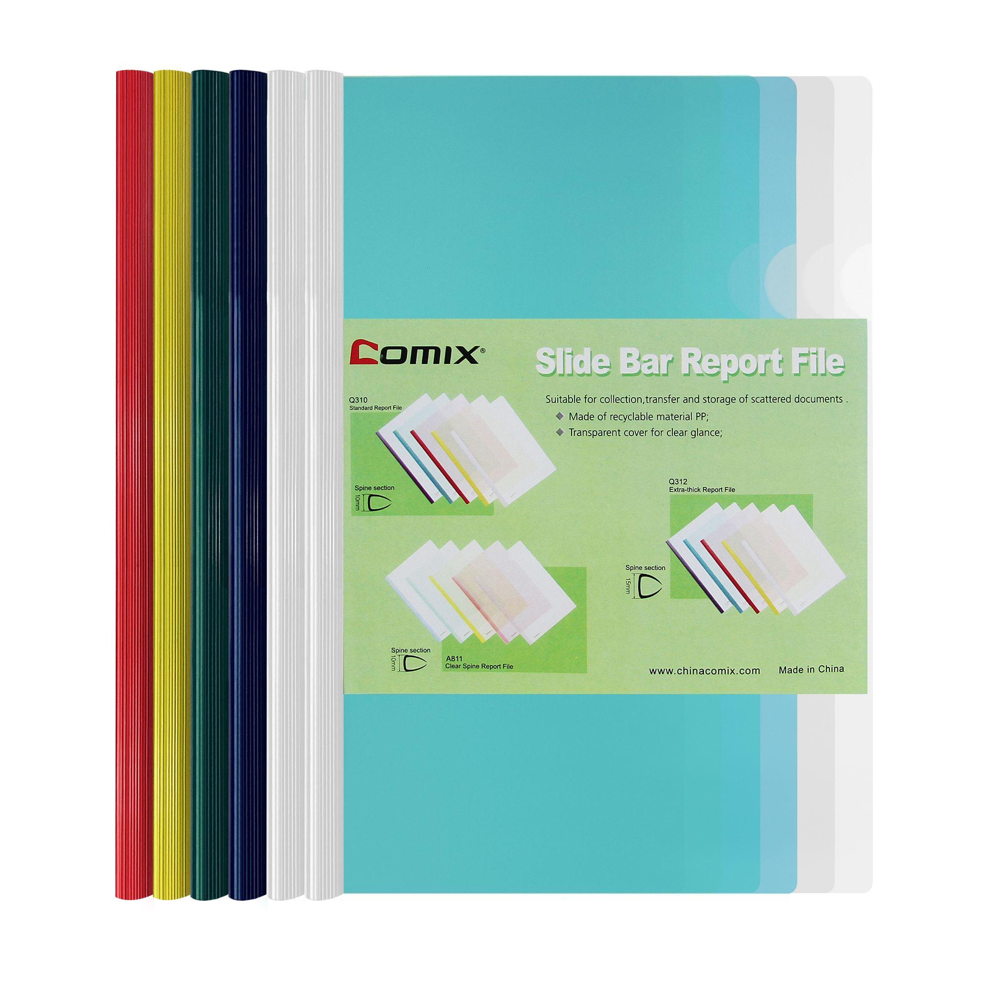 แฟ้มสันรูด COMIX  รุ่น Q310 คละสี(1x6)