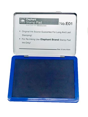 แท่นประทับ ตราช้างสีน้ำเงิน รุ่น E01B