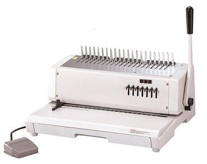 เครื่องเจาะกระดาษไฟฟ้าและเข้าเล่มแบบมือโยก  รุ่น TCC-21E(21รู)