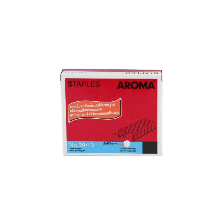 ลวดเย็บกระดาษอโรม่า AROMA Staples เบอร์23/13