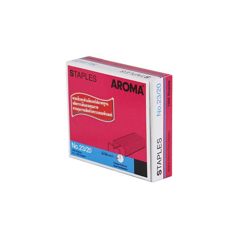 ลวดเย็บกระดาษอโรม่า AROMA Staples เบอร์23/20