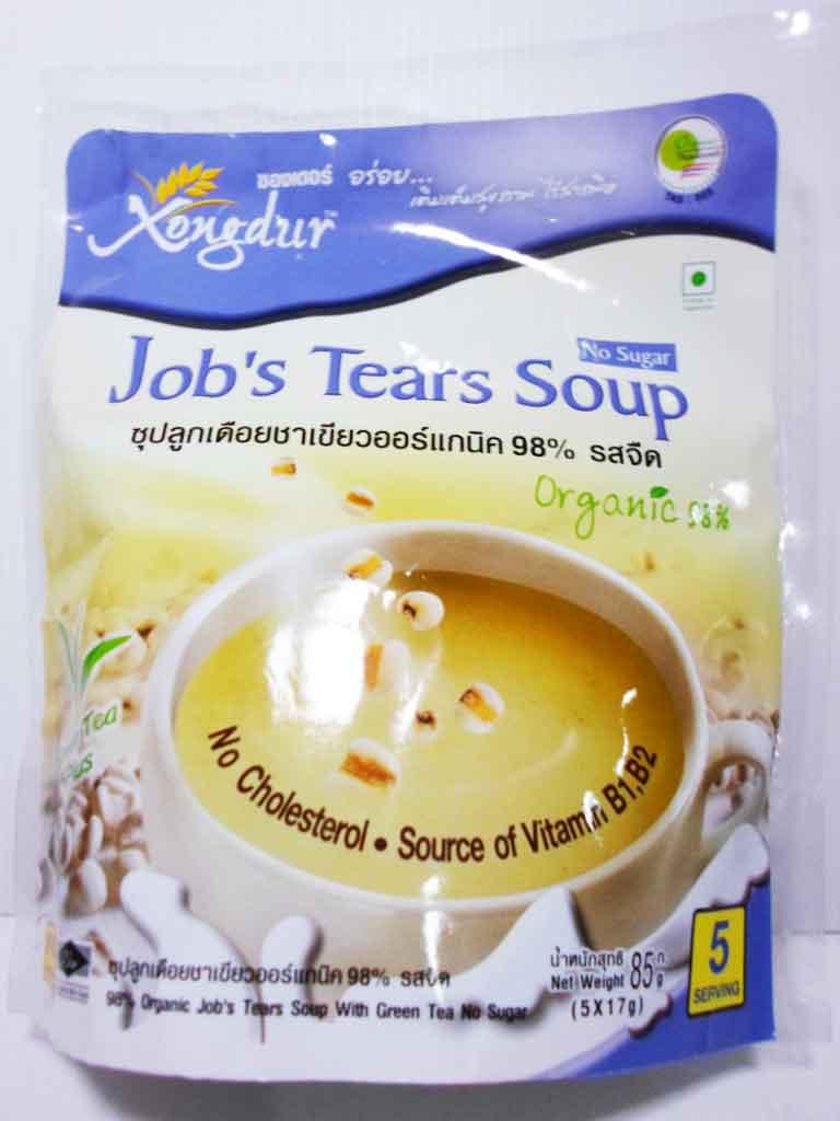 ซุปลูกเดือยชาเขียว รสจืด ซองเดอร์ 85g
