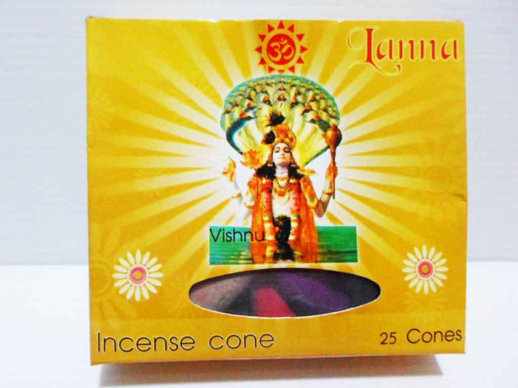 กำยานโคนพระวิษณุ / Incense 25 cones 50g