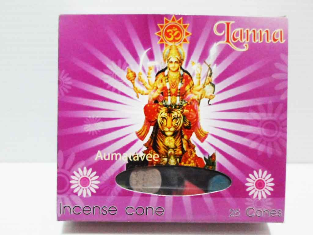 กำยานโคนพระแม่อุมาเทวี / Incense 25 cones 50g