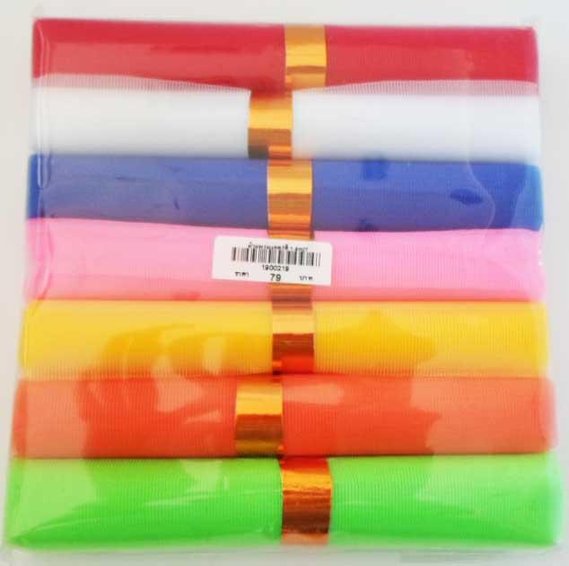 ผ้าแพรมงคล 7 สี 1.5 cm