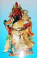 ภาพเทพเจ้ากวนอูชุดทอง ขนาดPostcard 4นิ้วx6นิ้ว