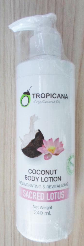 Sacred Lotus  Coconut Body lotion Tropicana 240g