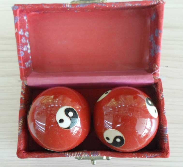 ลูกบอลหินหยินหยางสีแดง