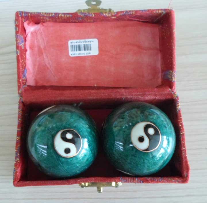 ลูกบอลหินหยินหยางสีเขียว