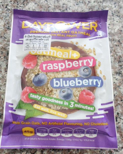 เดย์พวาวเวอร์-ข้าวโอ๊ตผสมราสเบอร์รี่บลูเบอร์รี่