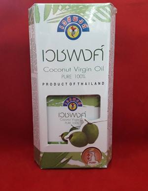 น้ำมันมะพร้าว เวชพงศ์ Coconut Virgin Oil Pure.