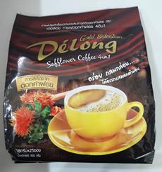 เดอลอง กาแฟดอกคำฝอย Delong Coffee 4 in 1