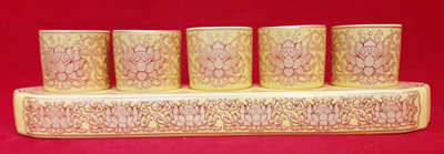 ชุดน้ำชา5ใบ(เหลือง)(ฐาน)1400122