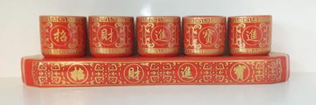 ชุดน้ำชา5ใบ(แดง)(ฐาน)[299]1400122