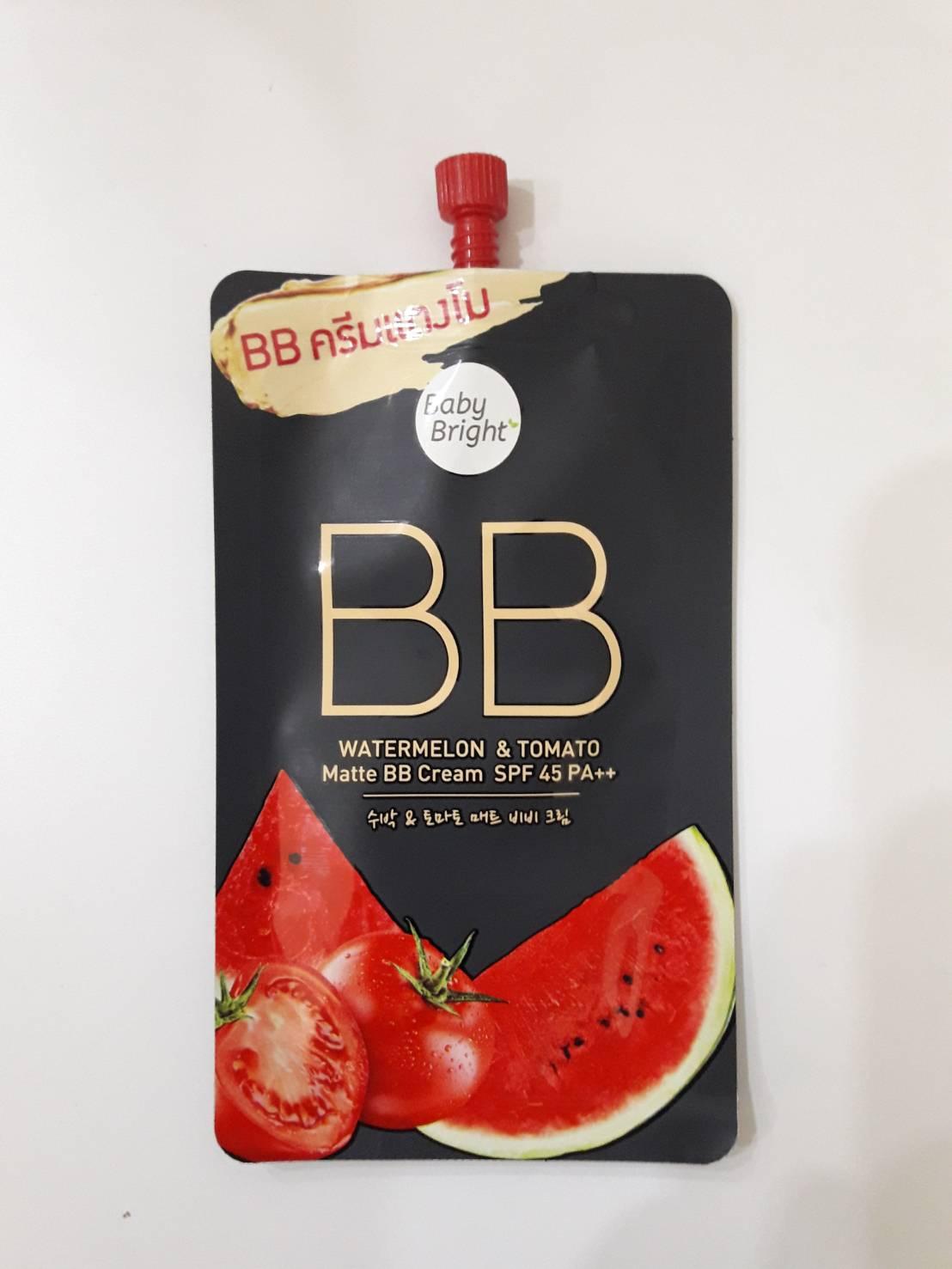 BBวอเตอร์เมล่อน  โทเมโทบีบีครีม WatermelonTomato Matte BB Cream.(7g)