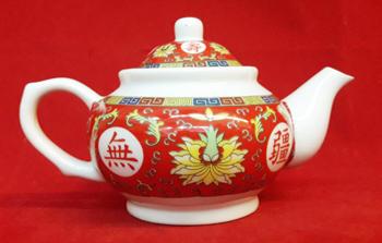 กาน้ำชาแดงลายทอง(ล)1400196