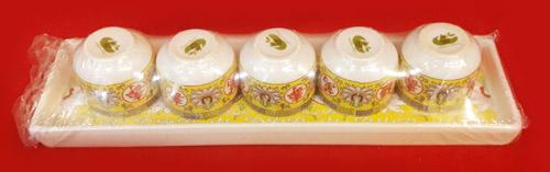 ชุดน้ำชา5ใบ เหลือง(ฐาน)PT[149]