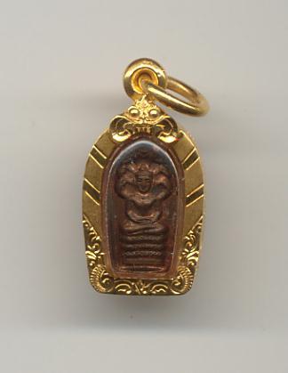 พระปรกมะขามหลวงปู่โต๊ะ วัดประดู่ฉิมพลี พร้อมเลียมทองอย่างหนา