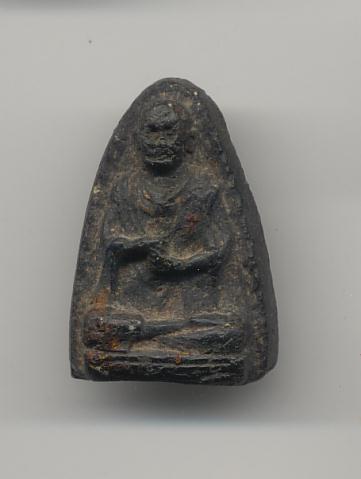 วัดประสาทบุญญาวาส พ.ศ. 2506 เนื้อผงองค์ที่ 18 พิมพ์สมเด็จโต สีดำ