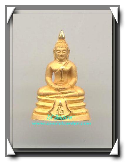 รูปหล่อพระพุทธโสธร ขนาดสูง 3 ซม.( พิมพ์ใหญ่ )เนื้อทองคำ 15.5 กรัม รุ่นมหามงคล