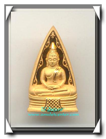 เหรียญหล่อพระพุทธโสธรพิมพ์สามเหลี่ยมลายกนก (พิมพ์ใหญ่) เนื้อทองคำ หนัก 10 กรัม รุ่นมหามงคล